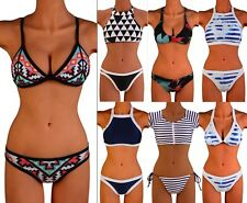 2016 Sexy Women Bikini Set Bandage Push Up Padded Swimwear Swimsuit Bathing FO