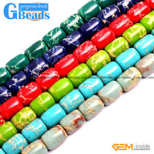 Colorful Sea Sediment Jasper Drum Barrel Beads For Jewelry Making Free Shipping