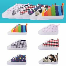 Baby Girl boy kids Soft Sole Sneakers Crib Shoes Size Newborn to 18 Months Cute