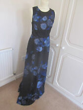 BNWT SOLD OUT ASOS BLACK FLORAL CROSS OVER BACK MAXI DRESS MANY SIZES RRP 55.00