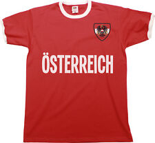 Mens AUSTRIA COUNTRY NAME Ringer T-Shirt OSTERREICH Football,Euro 2021