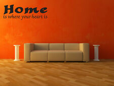 Wall Decal Home Is Where Your Heart Is Sticker Quote Home Lettering V279