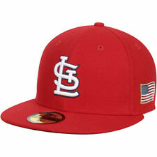 St. Louis Cardinals New Era Flag On-Field 59FIFTY Fitted Hat - Red - MLB