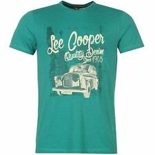Lee Cooper Mens Marl Retro T Shirt Short Sleeve Crew Neck Summer Casual Tee Top