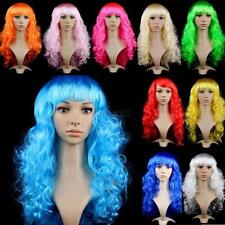 Fashion Womens Ladies Long Curly Wavy Hair Synthetic Anime Cosplay Wig Full Wigs