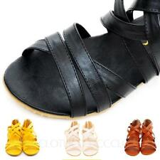 Womens Shoes Summer Flats Beach Fashion Vintage Ladies Leather Sandals Size