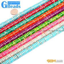 "Sea Sediment Jasper Gemstone Heishi Spacer Beads String 15"" Assorted Colors"