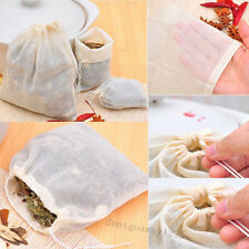 10/50/100pc 8x10 Cotton Muslin Reusable Drawstring Bags Soap Herb Tea Filter bag