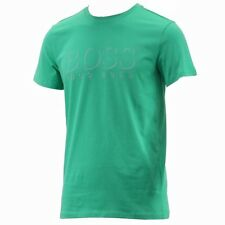 Hugo Boss Men's Cotton Logo Medium Green Crew Neck Short Sleeve T-Shirt