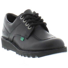 Kickers  Kick Lo Mens Black Leather Shoes