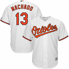Manny Machado Baltimore Orioles Majestic Cool Base Player Jersey - White - MLB