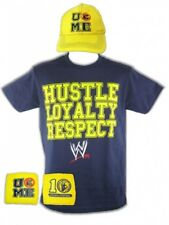 John Cena Kids Blue Hustle Boys Costume T-shirt Hat Wristbands