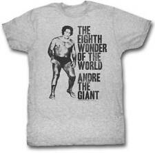 Andre the Giant 8th Wonder of the World Mens Grey T-shirt