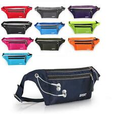 Running Belt Bum Waterproof Waist Fanny Pack Pouch Camping Sport Hiking Zip Bag