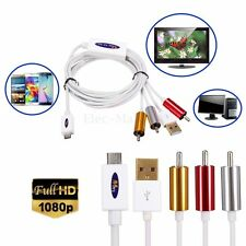 Full HD 1080P Micro USB MHL to RCA AV HDTV TV Composite Video Adapter Cable Cord