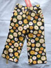 Gymboree Daisy Days Flower Orange Yellow Blue White Pants 18-24, 4, 4T NWT New