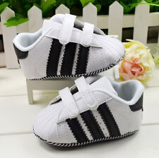 Baby Boy soft sole Velcro Sneaker First Shoes Crib shoes Size 3-8 Months