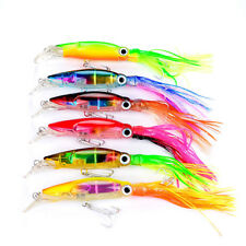 High Quality 1/6pcs Sleeve-Fish Fishing Lures Squid Crank Bait Tackle 14cm/40g