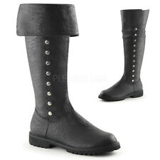 "FUNTASMA GOTHAM-120 Men's 1 1/2"" Flat Heel Cuffed Knee High Boot"