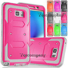 Shockproof Rugged Hybrid Rubber Bumper Hard Cover Case for Samsung Galaxy Note 5