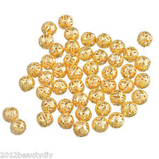 Wholesale Gold Tone Spacer Beads 8mm Dia.
