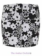 New Womens Ladies Floral Short Mini Bodycon Skirt Summer Fashion Party