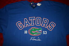MENS COLLEGE FLORIDA GATORS 1853 BLUE AND ORANGE SHIRT XL X-LARGE S/S NWT