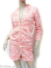 NWT JUICY COUTURE Daisy Pink, Spike Coral Crochet Tracksuits Hoodie Shorts
