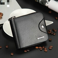 Men's Wallet PU Leather Pockets Money Purse ID Credit Card Clutch Bifold Bag