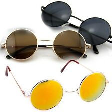 New Unisex Vintage Retro Men Women Round Metal Frame Sunglasses Eyewear Glasses