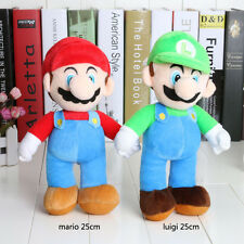 Hot Super Mario Luigi Plush Doll Mario Luigi Soft Party Plush Toy Size 25cm