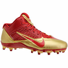 new-nike-alpha-pro-34-mid-td-football-cleats-nfl-san-francisco-49ers-red-gold