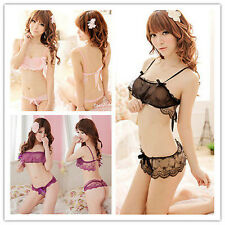 New Charming Sexy Lingerie Lace BabyDoll G String Underwear Lingerie Set