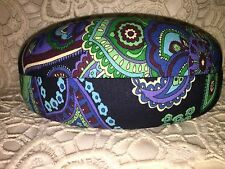Vera Bradley clamshell sunglasses glasses case Blue Rhapsody teal blue green