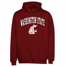 Washington State Cougars Arch Over Logo Hoodie - Cardinal - College