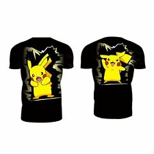 Black Pikachu Men's Sports Top T-Shirts Gym Fitness Anime Compression Clothes