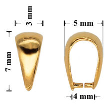 Sterling Silver Gold Plated Clip Pinch Bails 7x3mm for SWAROVSKI Crystals