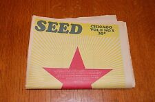vintage Seed Chicago underground hippie newspaper early 1970's Vol 8 No 3