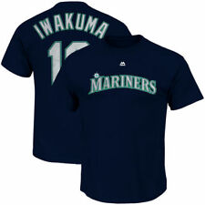 Hisashi Iwakuma Seattle Mariners Majestic Official Name & Number T-Shirt - MLB