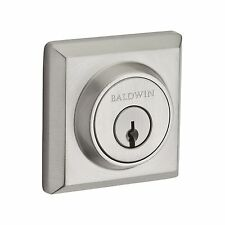 Baldwin Traditional Square Double Cylinder Deadbolt- Split Finishes Available