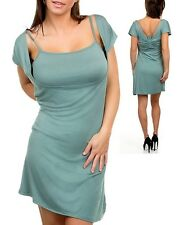 Women's Green Dress Tunic Long Shirt Sexy Casual Wear Fashion Clothing