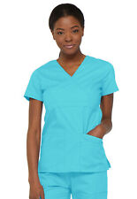 Turquoise Dickies EDS Signature Mock Wrap Scrub Top 85820 TQWZ