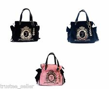 New Juicy Couture Cameo Logo Ms Daydreamer Tote Bag Purse + Sparkle Bling Charm