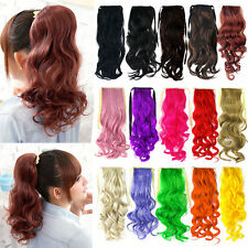 Women Long Wavy Curly Ponytail Hair Piece Tress Clip Hairpiece Extension