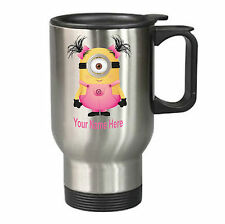 DESPICABLE ME Personalised Minion Travel Mug Birthday Christmas Gift Present C