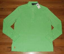 NWT Mens Polo Ralph Lauren Featherweight Mesh Long Sleeve Estate Polo Shirt *E2