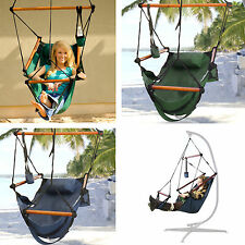 New Deluxe Hammock Hanging Patio Tree Sky Swing Chair Outdoor Porch Lounge