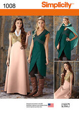 NEW DAENERYS SIMPLICITY GAME OF THRONES SEWING PATTERN 1008 Dress Cape Bodice