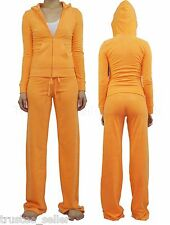 JUICY COUTURE  Tangerine Soft Terry Suit Hoodie Drawstring Pants Tracksuit Set