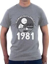 Blowing Out Candles Since 1981 35th Birthday Gift Idea T-Shirt Funny